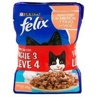Alimento húmeda para gato Felix adulto sabores surtidos x 4 precio especial
