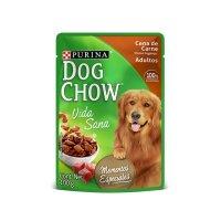 Alimento Húmedo Dog Chow Cena de Carne Trozos Jugosos x 100gr