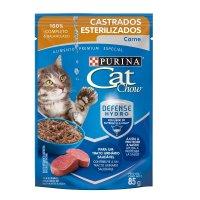 Alimento húmedo para Gatos Cat Chow adulto esterilizados carne x 85 gr