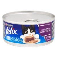 Alimento húmedo para Gatos Felix paté pavo y menudencias x 156 gr