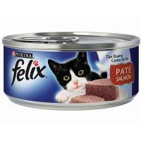 Alimento húmedo para Gatos Felix paté salmón x 156 gr