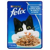 Alimento húmedo para Gatos Felix pescado blanco en salsa x 85 gr