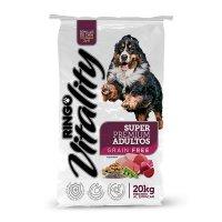 Alimento Super Premium Ringo Vitality Perros Adultos * 20 Kg