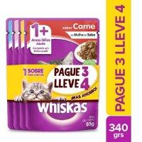 Alimento Whiskas en Sobre Pague 3 Lleve 4