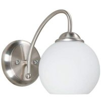 Aplique De Pared Vidrio Metal Satin 1 Luz E27 60W