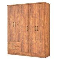 Armario 5 Puertas 2 Cajones 150x182x46 Cm Native