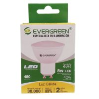 Bombillo Led Gu10 5W 450Lm Luz Cálida Evergreen