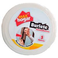 Burlete Autoadhesivo Puertas Ventanas Blanco x5m
