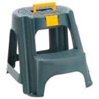 Butaco - Escalera Plastico Rimax Tapa Organizadora Negro