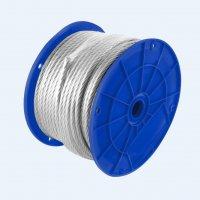 """Cable Acero 7X19 Hilos 3/32"""" X1/8"""" X 1M Recubierto Pvc"""