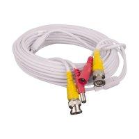 Cable Cctv Video/Corriente Blanco 10m