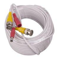 Cable Cctv Video/Corriente Blanco 15m