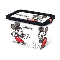 Caja Plastica Con Tapa Broche Mickey 7Lt