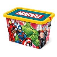 Caja Plastica Tapa Broche Avengers 7 Lt