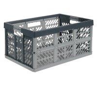 Caja Plegable Plástica 45 Lts Gris