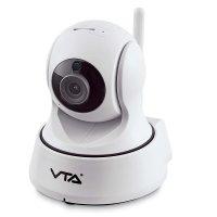Cámara Ip Hd con Movimiento 360 Grados, 720P, Tarjeta Micro Sd, P2P Y Wifi