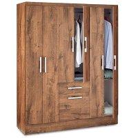 Closet Moca 6 Puertas 148X47X183Cm