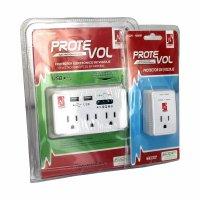 Combo Protector de Voltaje Slim Refri+ 3tomas Usb