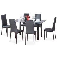 Comedor en Vidrio 6 Puestos Color Negro