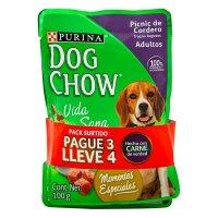 Comida húmeda para perro Dog Chow adulto sabores surtidos x 4 precio especial