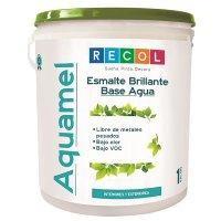 Esmalte Agua 1Gl Blanco Brillante Recol