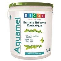 Esmalte Agua 1/4Gl Blanco Brillante Recol