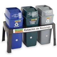 Estación De Reciclaje 44lt Base Plástica