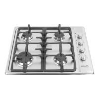 Estufa de Empotrar Abba Master Chef  CG4PLXN Gas Natural Acero Inox