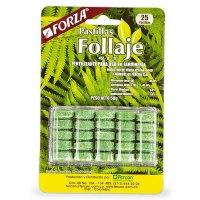 Fertilizante Pastillas Follaje 25 Pastillas x50g