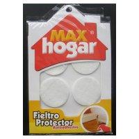 Fieltro Protector Blanco Ø 40mm 4un MAX HOGAR