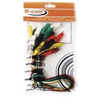 Juego de 10 caimanes con cables 3 amp.