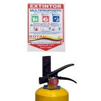 Kit Soporte Señalización Extintor x20-30lb