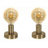 Lámpara de Mesa Bronce Antiguo 1 Luz E27 60W Pack x2