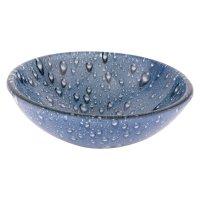 Lavamanos vidrio azul gotas