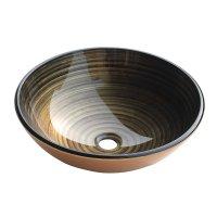 Lavamanos Vidrio Gold Lines 42 X 42 Cm