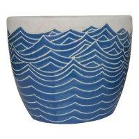 Maceta Ceramica Agua Mediana 22X18Cm