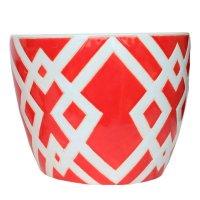 Maceta Ceramica Diamante Roja Mediana 22X18