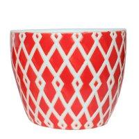 Maceta Ceramica Riscos Roja Mediana 22X18