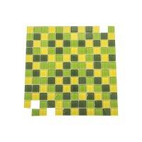 Malla 30 cm x 30 cm x 8 mm Cristal Verde
