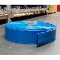 Manguera Descarga Agua Azul Plana 1.5 Flexco X 1Mt
