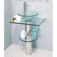 Mueble Baño con Lavamanos Transparente Drimys