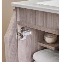 Mueble Baño Ela Con Lavamanos Kit Led 60X46X45 Parma