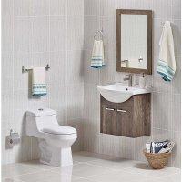 Mueble Baño Grey Con lavamanos 62X49X61 Cm