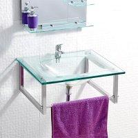 Mueble Baño Lantana Recto Vidrio 50X52Cm