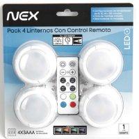 Pack 4 Linternas con Control Remoto