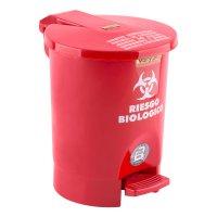 Papelera Pedal Roja x4.5l