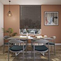 Persiana 100 cm x 140 cm Aluminio Café
