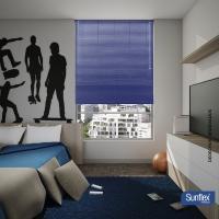 Persiana Horizontal de PVC 1.50x1.50 Azul Pacífico Sunflex
