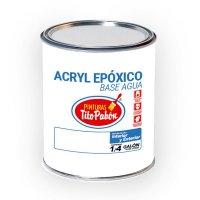 Pintura Epox Base Agua 1/4 Gl Blanco
