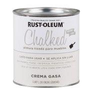 Pintura Tizada Chalked Brochable Crema Gasa 1/4 Gl